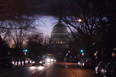 Photograph - Storm Over The Capitol by Lisa Missenda