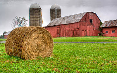 Abstract Graphics - Storm Over the Farm by Douglas Barnett