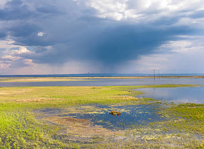 Alvord Desert Wall Art - Photograph - Storm Over The Narrows by Kathleen Bishop