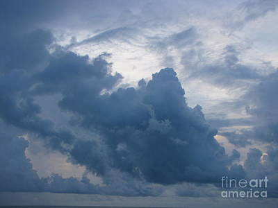 Storm Over The Ocean Art Print by Gayle Melges