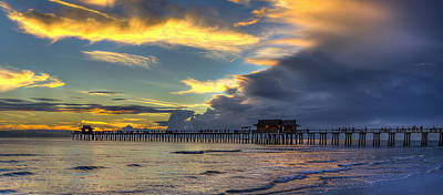 Photograph - Storm Over The Pier by Sean Allen