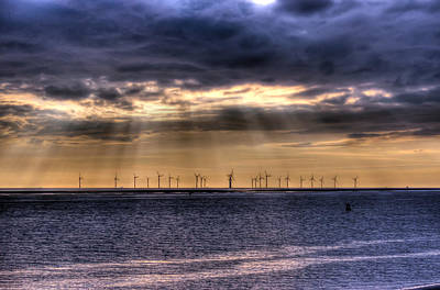 Crosby Photograph - Storm Over The Windfarm by Paul Madden
