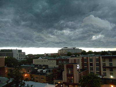 Photograph - Storm Over West Chester by Ed Sweeney