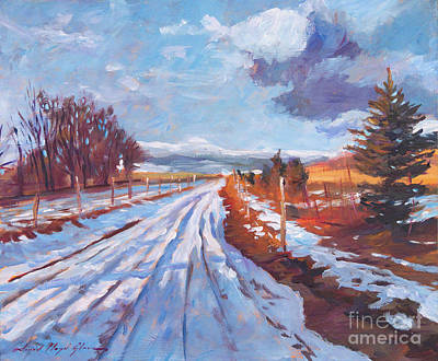 Plein Air Painting - Storm Passing by David Lloyd Glover