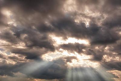 Photograph - Storm Rays by Lars Lentz