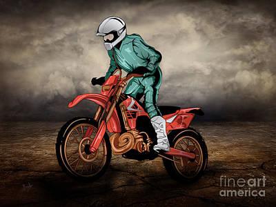 Freedom Mixed Media - Storm Rider V1 by Bedros Awak