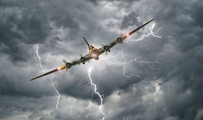 B-17 Wall Art - Digital Art - Storm Riders by Peter Chilelli