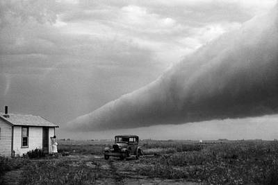 Storm Roll Cloud Art Print