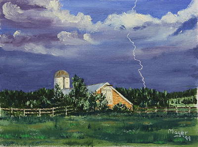 Painting - Storm Rolling In by Alan Mager