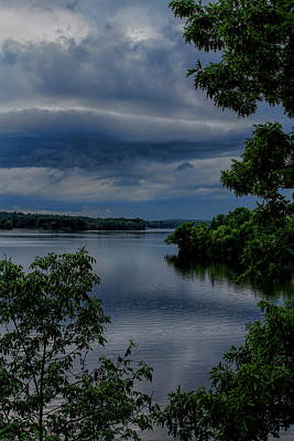 Photograph - Storm Rolling Over Lake Wausau by Dale Kauzlaric