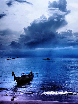 Storm Rolls Over The Sea Art Print by Kaleidoscopik Photography
