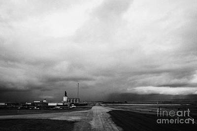 storm snow clouds forming over the prairies assiniboia Saskatchewan Canada Art Print
