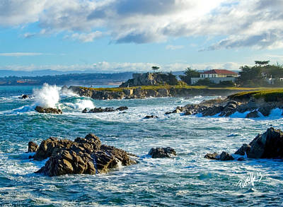 Digital Art - Storm Surge - Pacific Grove Ca by Jim Pavelle