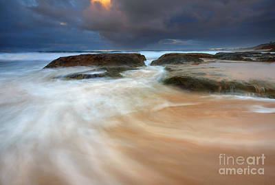 Knights Beach Photograph - Storm Surge Sunrise by Mike Dawson