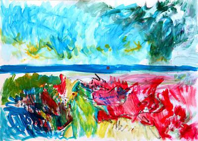 Storm The Coast Art Print by Konstantin  Dimitrov
