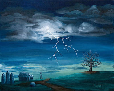 Thunder Painting - Storm by Tracy Tauber