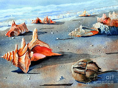 Horseshoe Crab Painting - Storm Treasures by John W Walker