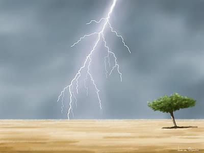 Storm Art Print by Veronica Minozzi