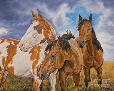 Pinto Painting - Storm Warning by Jana Goode