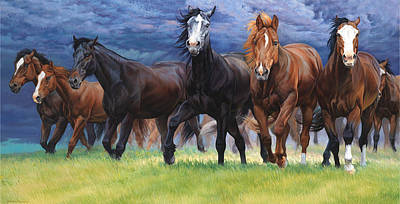Horse Art Painting - Storm Warning by JQ Licensing