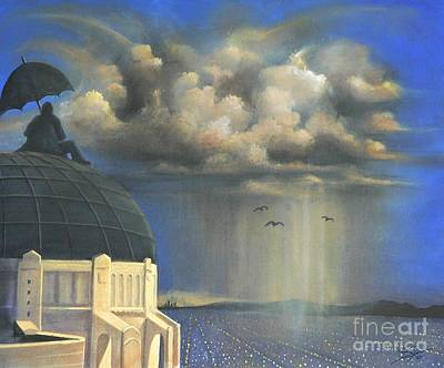 Art Print featuring the painting Storm Watch At Griffith's by S G