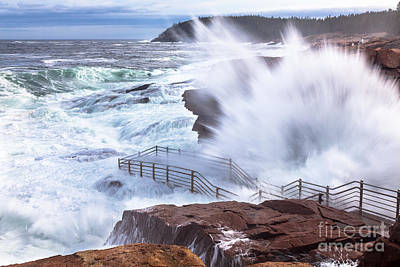 Photograph - Storm Waves At Thunder Hole by Susan Cole Kelly