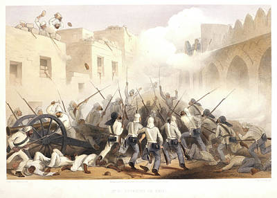 Storming Of Delhi Art Print by British Library
