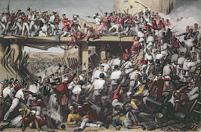 Storming Of Delhi, Engraved By T.h. Sherratt, Published By The London Printing And Publishing Art Print
