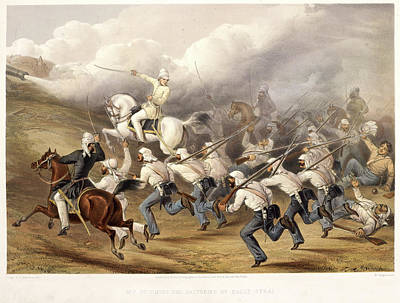 Storming The Batteries At Badle - Serai Art Print by British Library