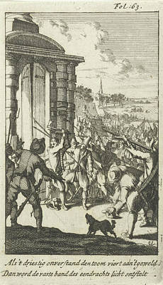 Storm Drawing - Storming The North Gate In Middelburg By Rebellious Peasants by Litz Collection