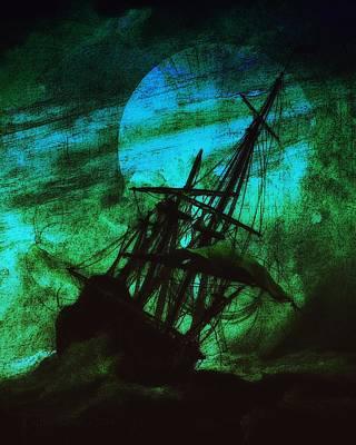 Spooky Digital Art - Stormrider by Mimulux patricia no No
