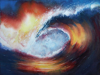 Tube Painting - Stormridge Surf by Nelson Ruger