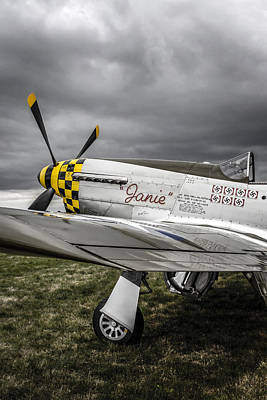Storms Above A Mustang Original by Chris Smith