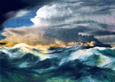 Decorating Mixed Media - Storms And The Power Of Nature by Georgiana Romanovna