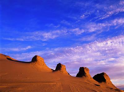 Storms Carve Sand Dunes In Peaks Art Print
