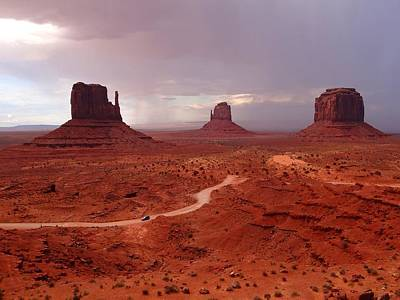 Photograph - Storms Moving Through Monument Valley by Keith Stokes