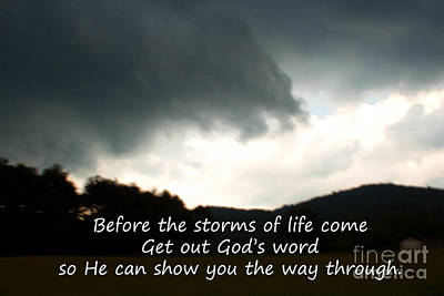 Landscapes Royalty-Free and Rights-Managed Images - Storms of Life by Sandra Clark