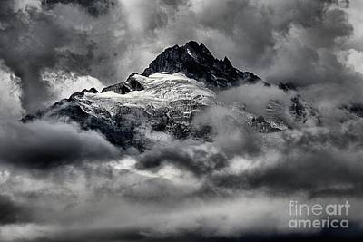Photograph - Storms Over Glaciers And Rugged Peaks by Adam Jewell