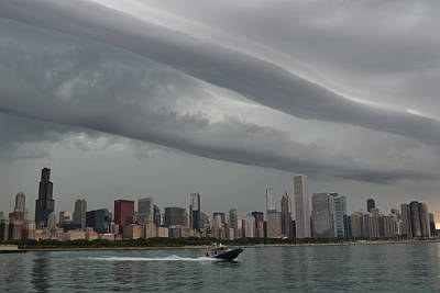 Storms Roll Over Chicago Original by Nicholas Stewart