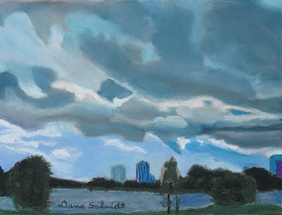 Painting - Storms Rolling In Over Lake Highland In Orlando by Dana Schmidt