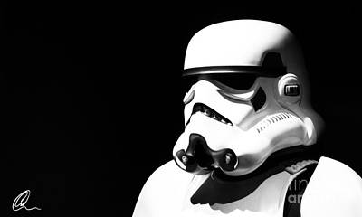 Stormtrooper Art Print by Chris Thomas