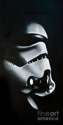 Sith Painting - Stormtrooper by Clifton Llamas