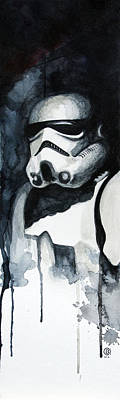 War Painting - Stormtrooper by David Kraig