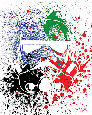 Stormtrooper Goes Splat Art Print by Decorative Arts