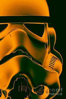 Stormtrooper Helmet 10 Art Print by Micah May