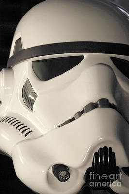 Science Fiction Photograph - Stormtrooper Helmet 100 by Micah May