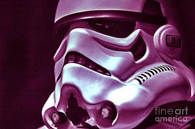 Stormtrooper Helmet 20 Art Print by Micah May