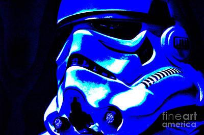 Stormtrooper Helmet 22 Art Print by Micah May