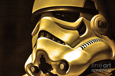 Stormtrooper Helmet 24 Art Print by Micah May