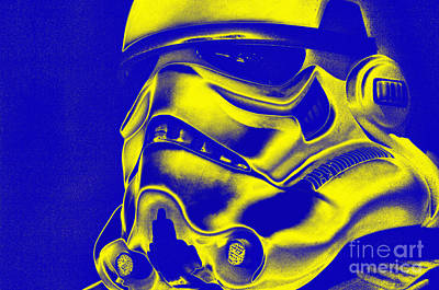 Stormtrooper Helmet 29 Art Print by Micah May